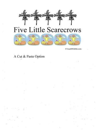 Booklet: 5 Little Scarecrows