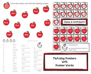 Matching Numbers With Number Words