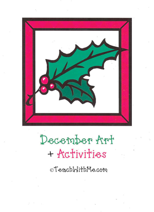 December Art and Activity Book