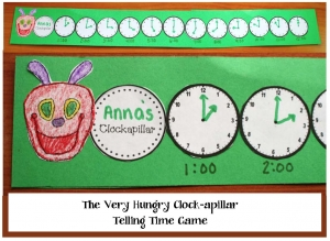 The Very Hungry Clockapillar Craftivity and Game