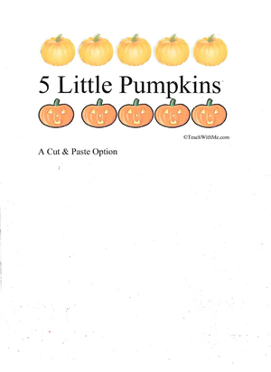 Booklet: 5 Little Pumpkins