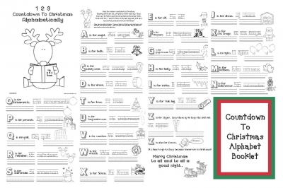 Countdown To Christmas Alphabet Activities