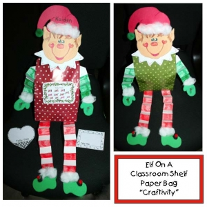 Elf On A Classroom Shelf Craftivity