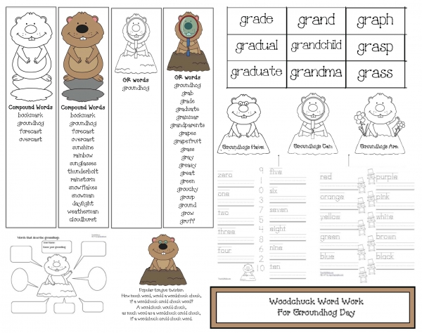 Woodchuck Word Work For Groundhog Day
