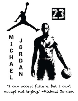 Michael Jordan Writing Prompt Posters