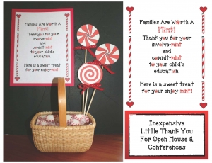 Families Are Worth A Mint Open House or Conferences Treat