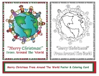 Merry Christmas From Around The World Poster & Coloring Card