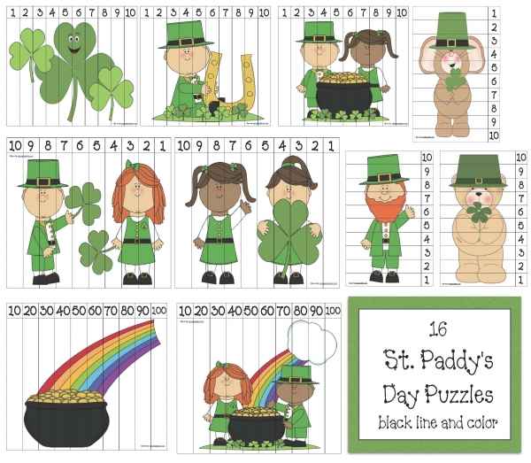 16 St Patrick's Day Puzzles