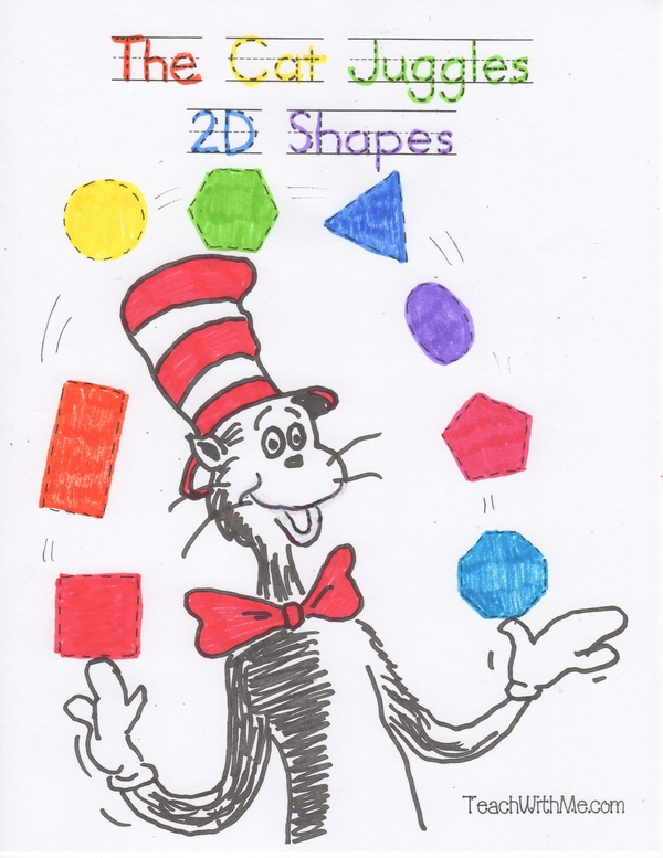 The Cat In The Hat Juggles 2D Shapes