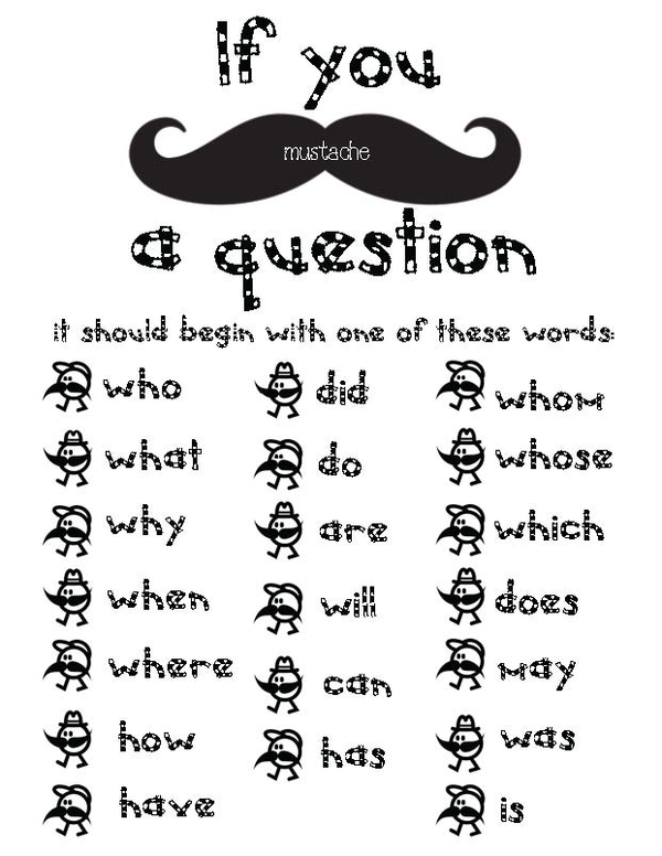 Mustache Activity Packet
