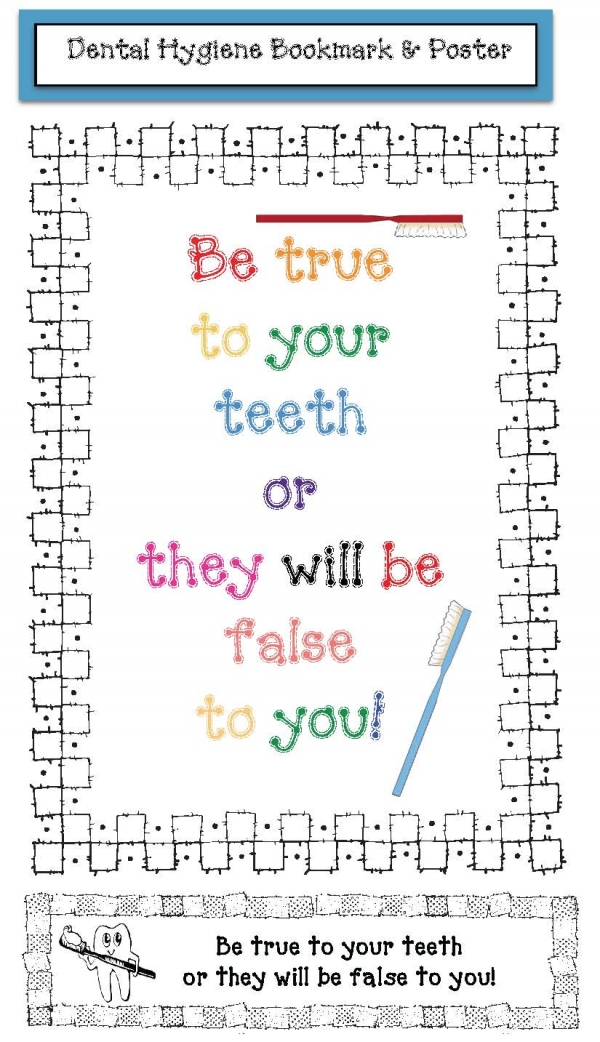 Dental Hygiene Poster and Bookmark