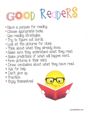 Good Readers Anchor Chart
