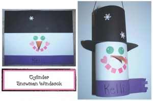 Cylinder Snowman Windsock Craft