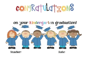 Graduation Certificates For Kindergarten and Preschool