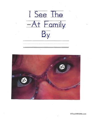 Easy Reader Booklet: I See The At Family