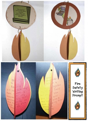 Fire Safety Writing Prompt Dangler Craft
