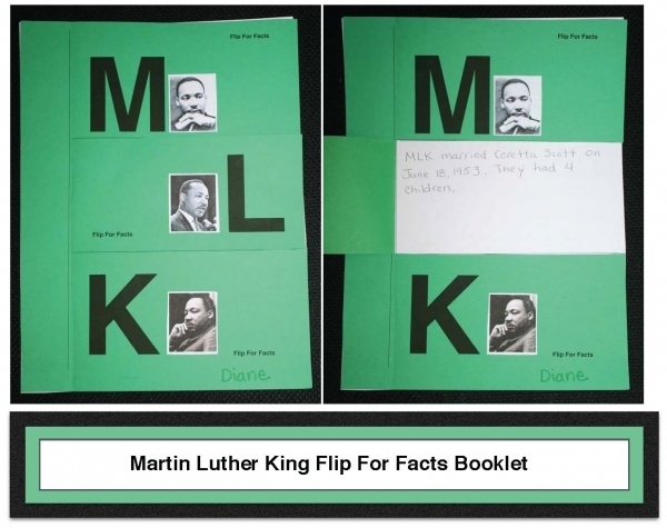 Martin Luther King Flip For Facts