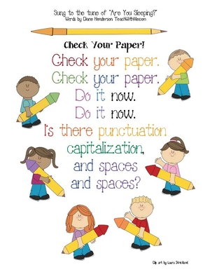 Check Your Paper Anchor Chart