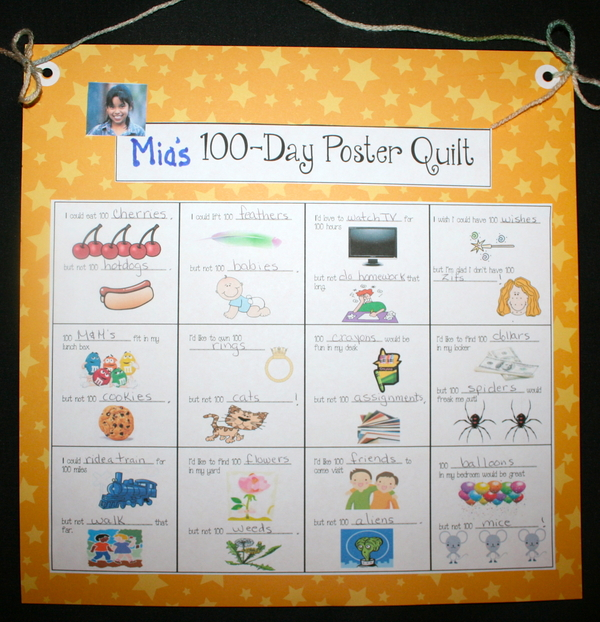 100 Day Writing Prompt Quilt