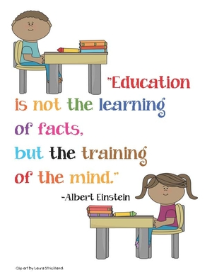 Einstein Education Quote poster