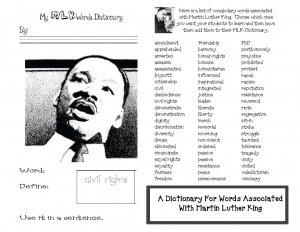A Dictionary of MLK Words