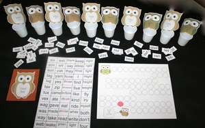 Vowel Owl Packet