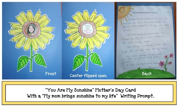 You Are My Sunshine Mother's Day Craftivity