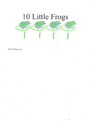 Booklet: 10 Little Frogs