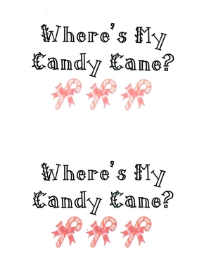 Booklet: Where's My Candy Cane?