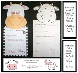 Moo-vin' and a Groovin' Writing Prompt Craftivity