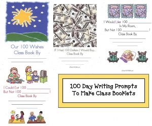 100 Day Five Writing Prompts for Class Books