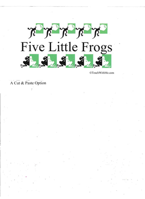 Booklet: 5 Little Frogs
