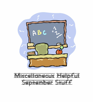 Free Miscellaneous Helpful September Stuff