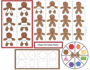 Gingerbread Shape Games