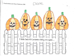 Booklet: 5 Little Pumpkins Sitting On A Gate