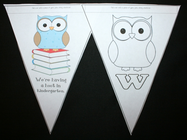Back To School Owl Welcome Banner
