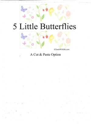 Booklet: 5 Little Butterflies