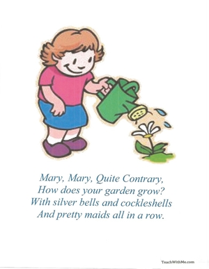 Mary How Does Your Garden Grow Nursery Rhyme