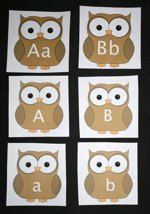 Alphabet Owl Cards