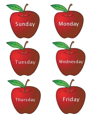 Months and Days of the Week Apples