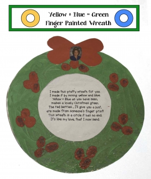 Finger Painted Wreath