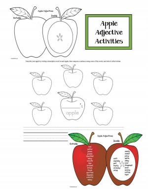 Apple Adjective Activities