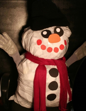 Stuffy The Recycled Snowman