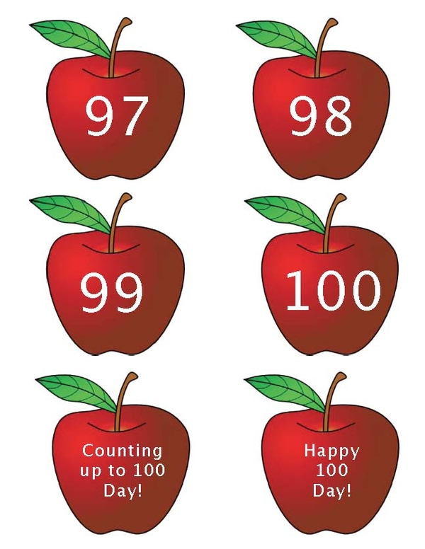 100 Numbered Apples