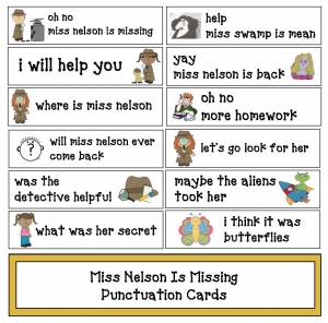 Miss Nelson Is Missing Punctuation Cards