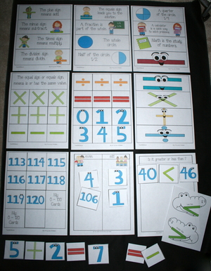 Math Number and Symbol Cards