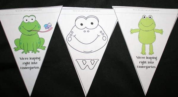 Back To School Frog Welcome Banner
